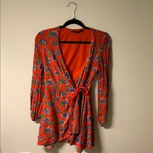 Zara Floral Romper Dress